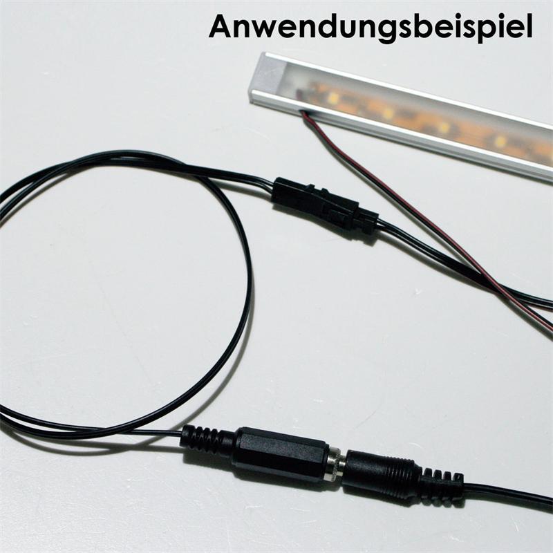 LED Anschlusskabel Mini-Buchse auf DC-Buchse 2,1
