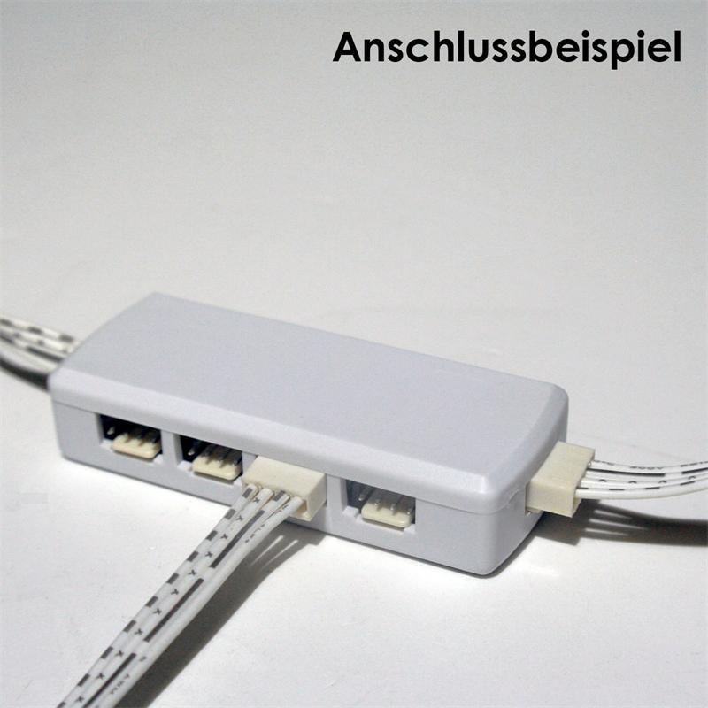 led verteiler 9 fach f r rgb 4 polig 50cm kabel. Black Bedroom Furniture Sets. Home Design Ideas