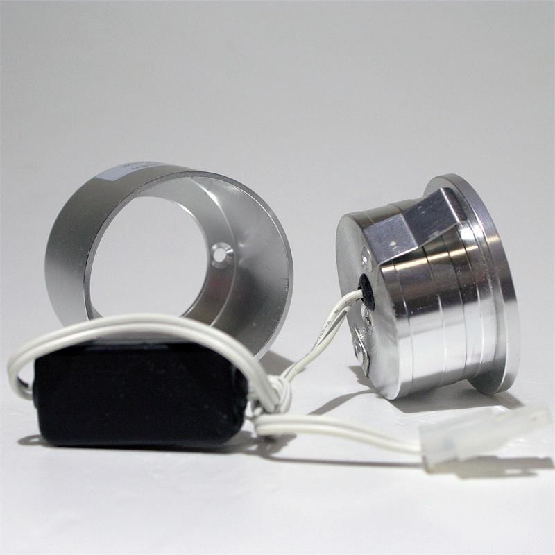 Wall light | 12V/1W highpower LED | alu | pure white | round