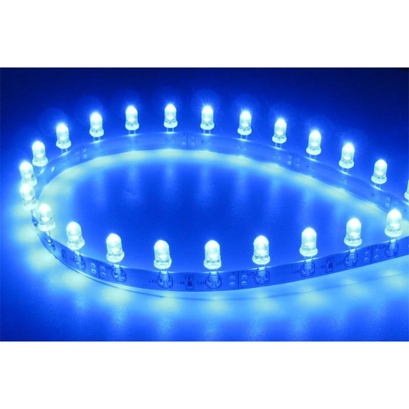 Flexibler LED Strip BLAU 50cm 30 x 5mm LEDs 12V DC