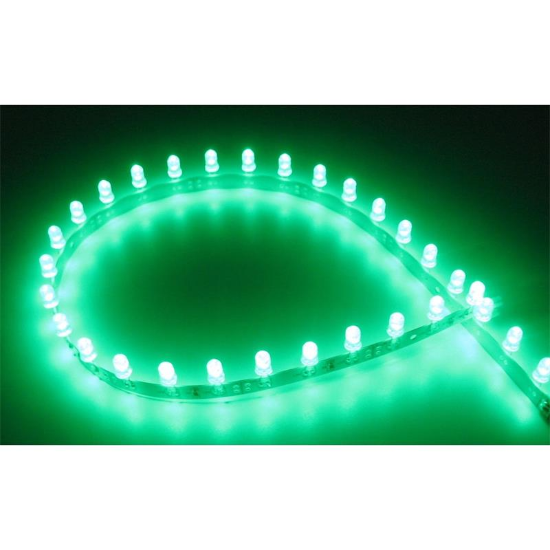 Flexibler LED Strip GRÜN 50cm 30 x 5mm LEDs 12V DC