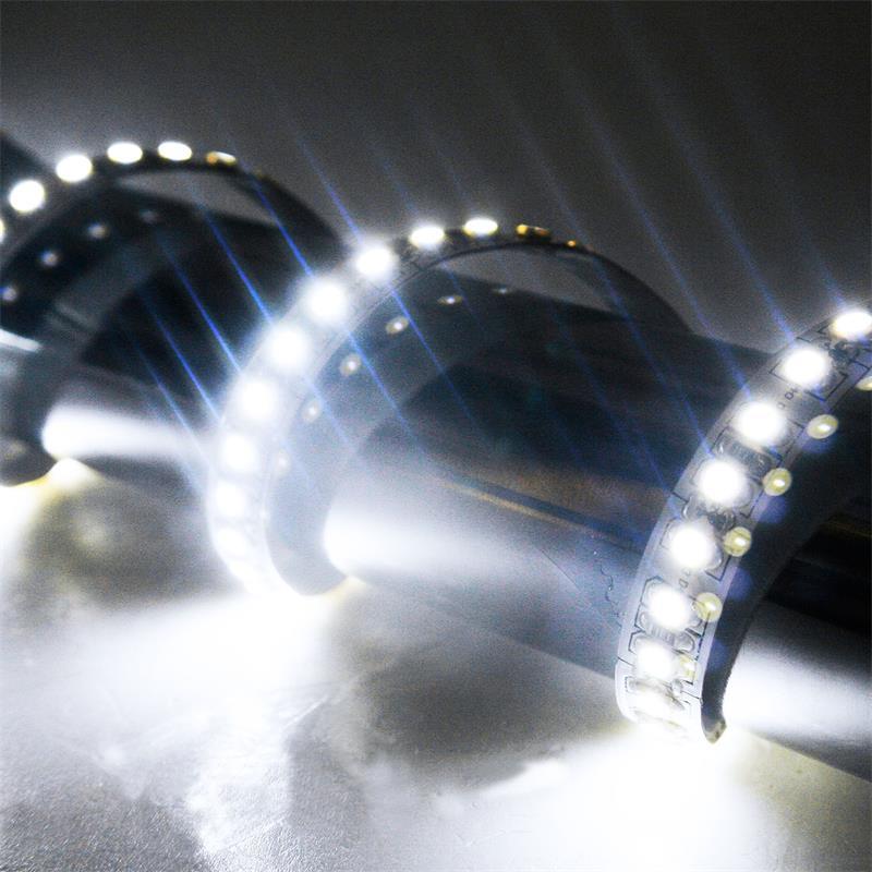 5m LED Lichtband 180LED/m kalt-weiß PCB weiß
