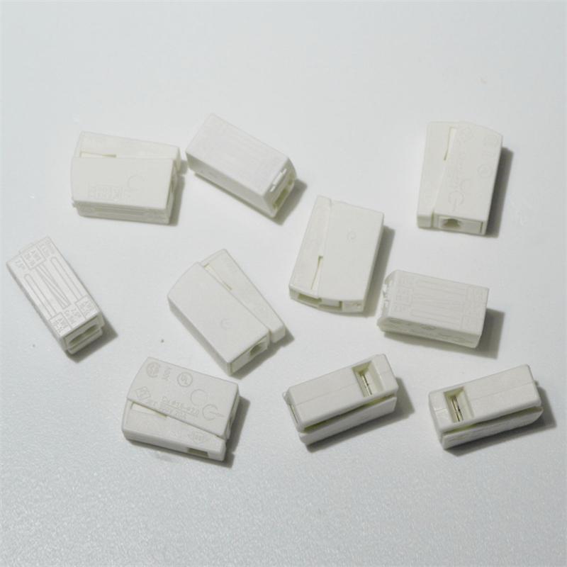 WAGO DUO-Leuchtenklemme 10 Stück 2x 1,0-2,5mm² | weiß