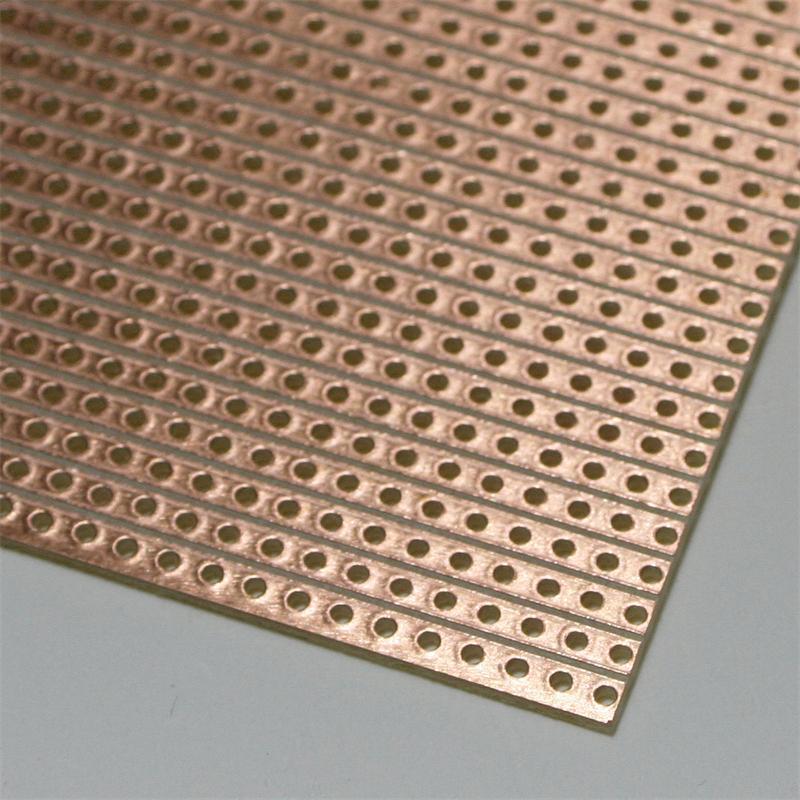 Euro circuit board 160x100mm, individual lines