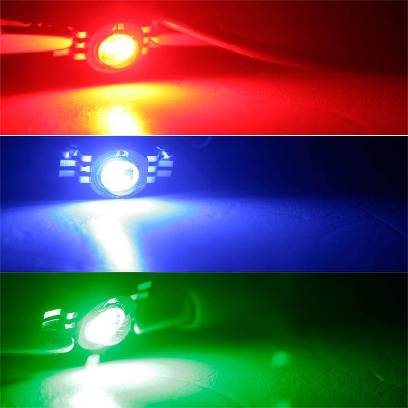 10 x Highpower LED Chip 3W RGB rot grün blau Fullcolor Power Leuchtdiode 350mA