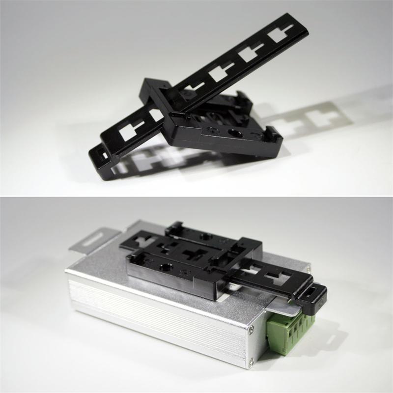 Din Rail Holder Universal Black Plastic
