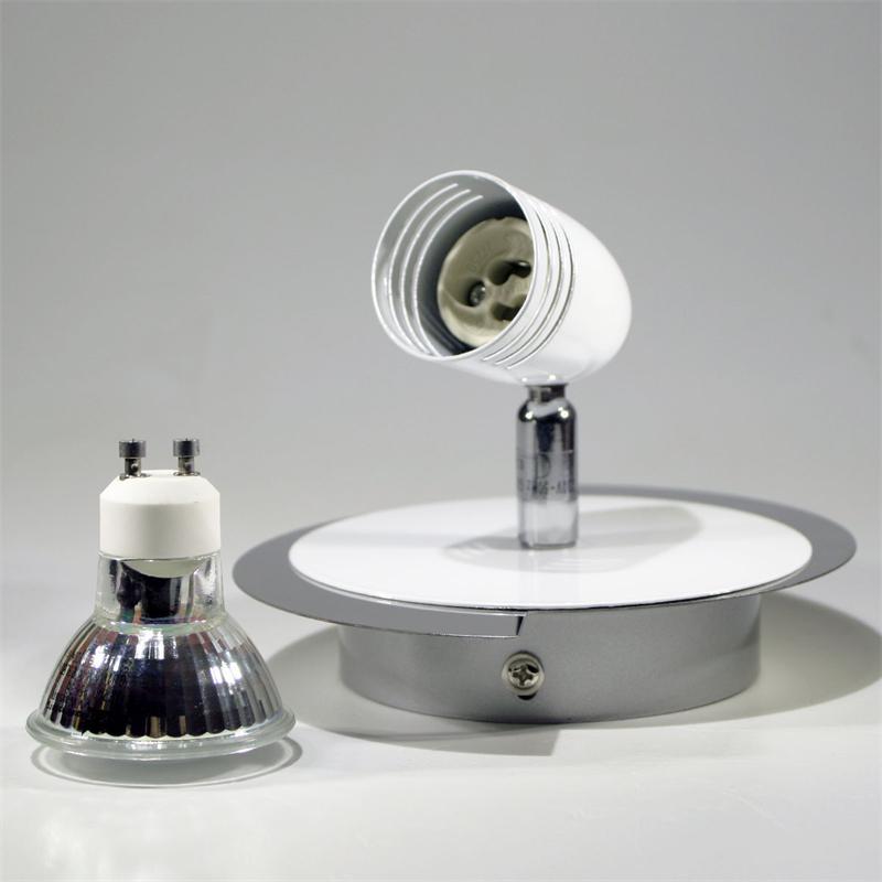1 spotlight, chrome/white design with 1 light, 230
