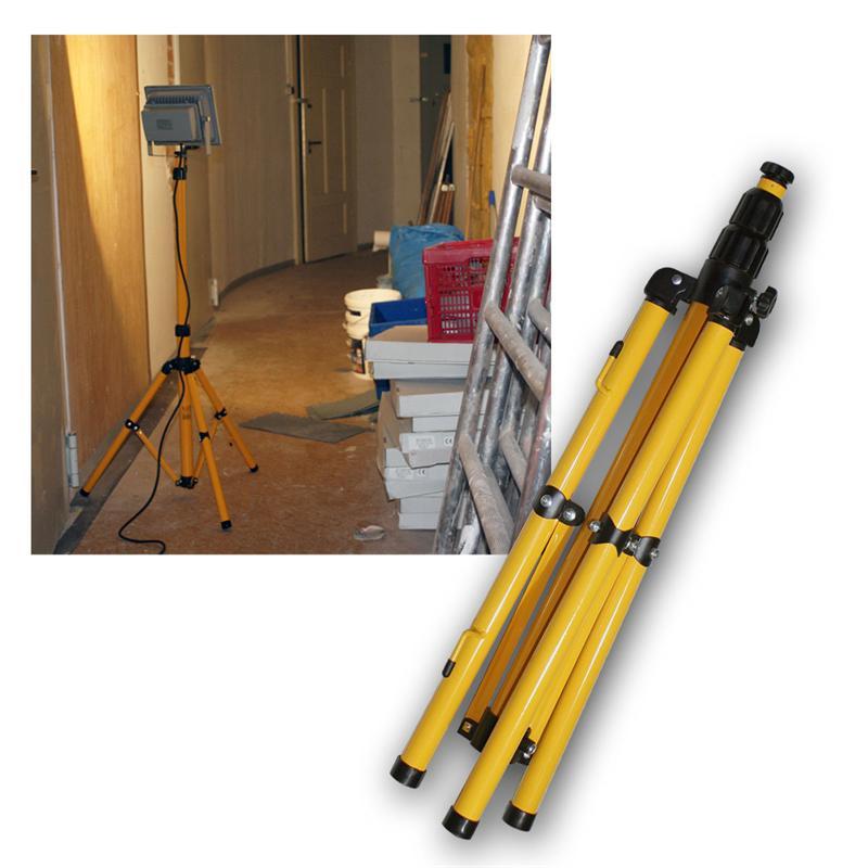 stativ f r 30w 50w led fluter ausziehbar bis 1 5m. Black Bedroom Furniture Sets. Home Design Ideas