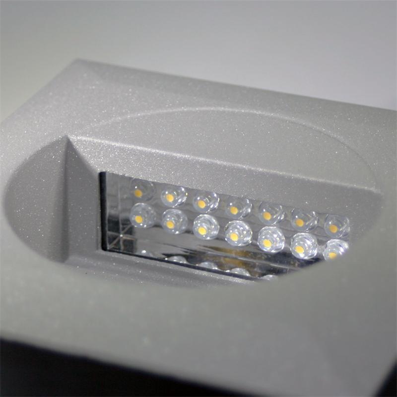 led wandeinbauleuchte wel q14 ip65 warmwei 230v. Black Bedroom Furniture Sets. Home Design Ideas