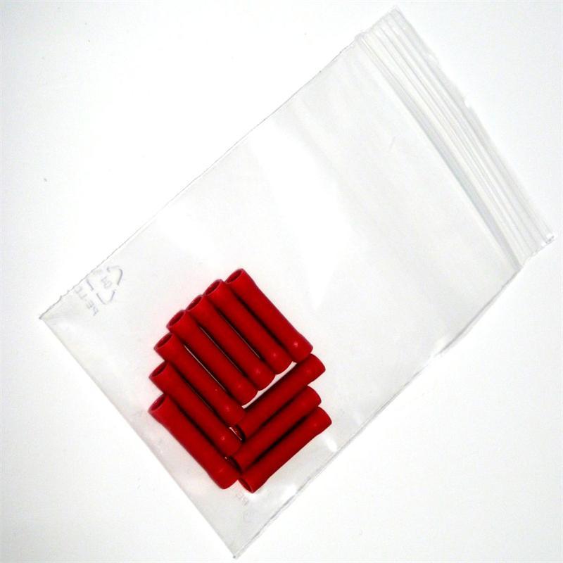 10 Stoss-/Quetschverbinder ROT für 0,1-1,5mm²