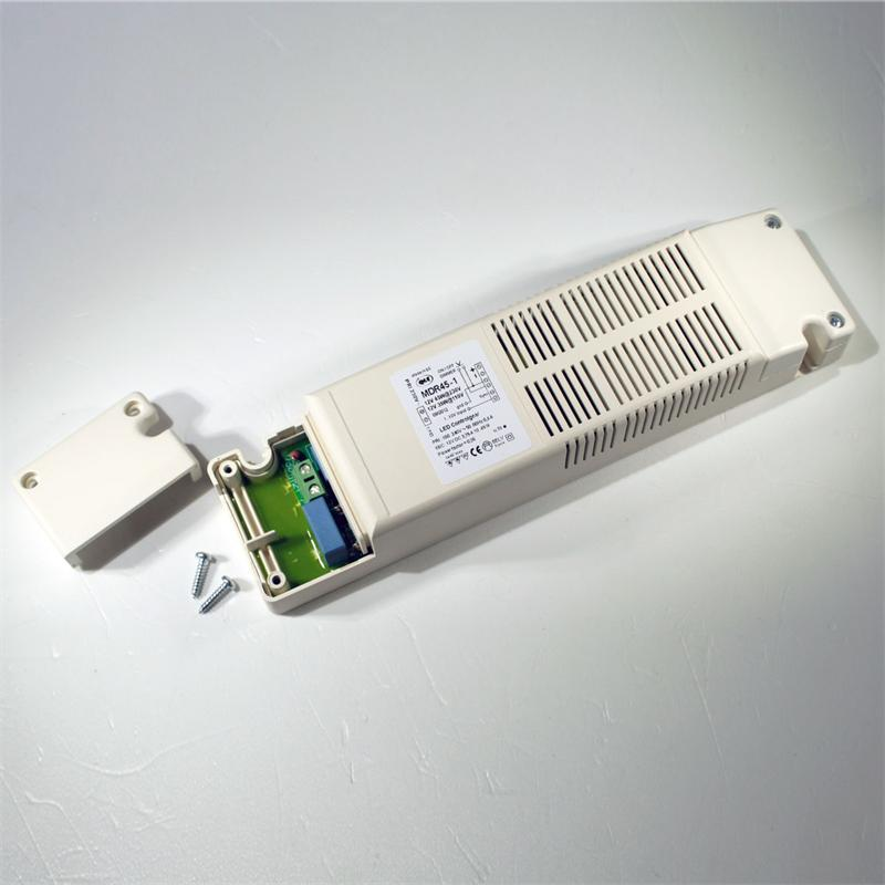 LED transformer, secondary dimmable, 1-45W, 12V DC, IP40