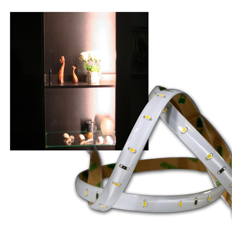 led lichtband 1 2m smd leds warmwei 12v klebend. Black Bedroom Furniture Sets. Home Design Ideas