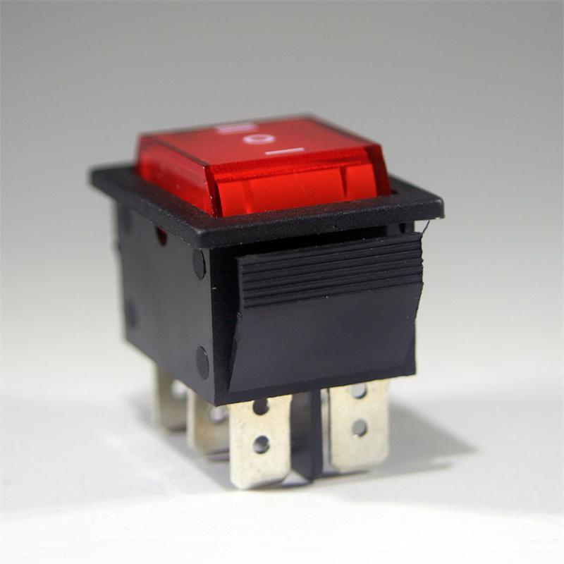 1x rocker switch red, 2 poles