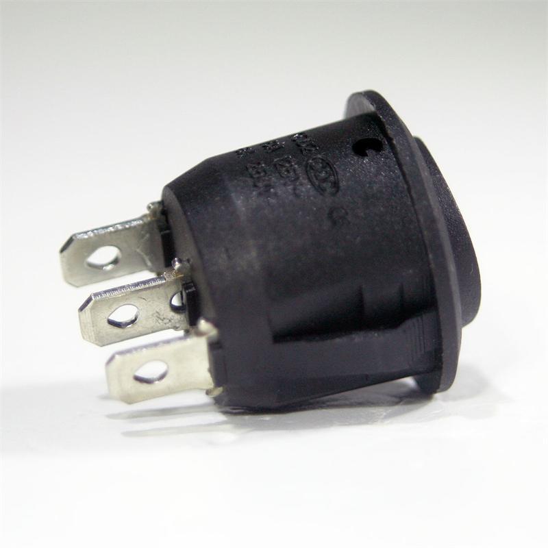 Wippschalter rund 1-polig, EIN/AUS/EIN Schalter
