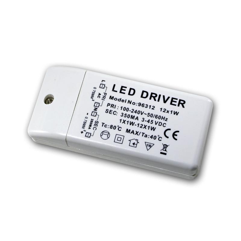 Trafo 3-45V 350mA-konstant - für 1-12 1W LEDs