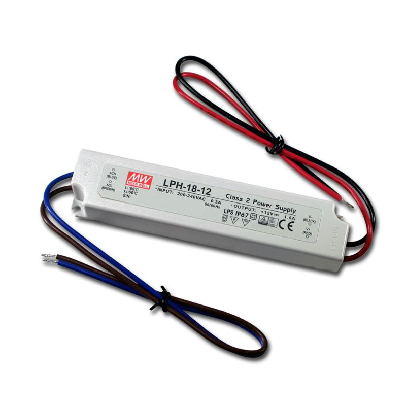 Mean Well Led Transformer 12v 1 5a 18w Ip67