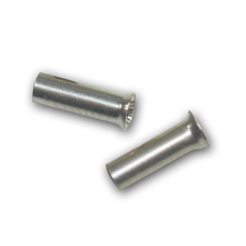 100 Aderendhülsen unisoliert versilbert 1,5mm² 7mm