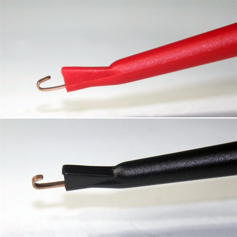 1 pair of test probes red/black, with hooks