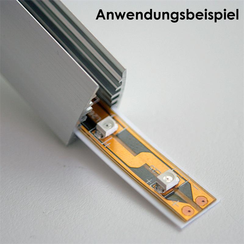 LED aluminum glass edge lights for led strip, 1m
