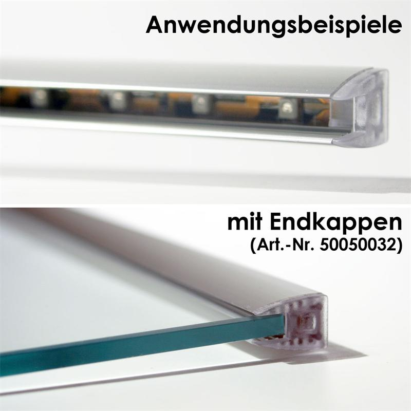 1m led alu glaskanten profil eloxiert 12 5x18mm. Black Bedroom Furniture Sets. Home Design Ideas