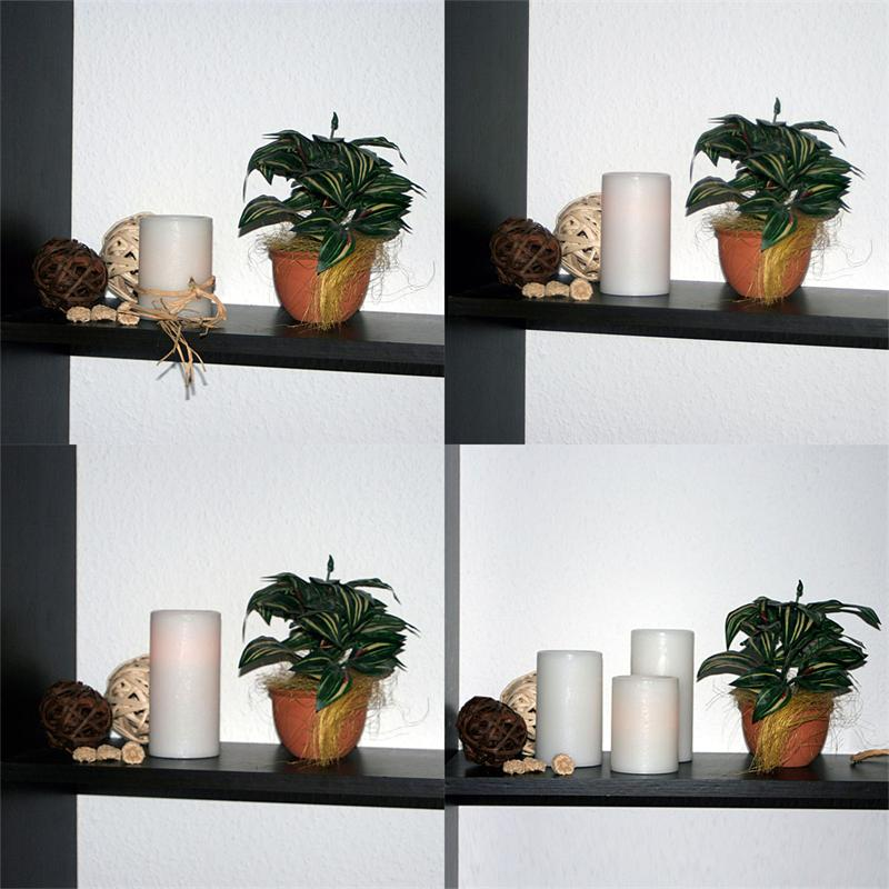 LED wax candle | Ø ,5cm | 3 heigths | flickering flame amber
