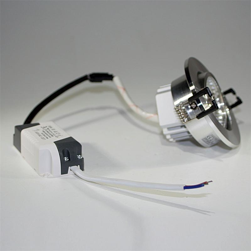 LED Einbauleuchte | COB-5 | silber | 5W | 350lm | warmweiß