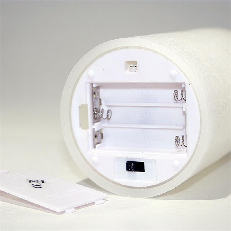 led echtwachs kerze mit timer wei 12 5x7 5cm. Black Bedroom Furniture Sets. Home Design Ideas