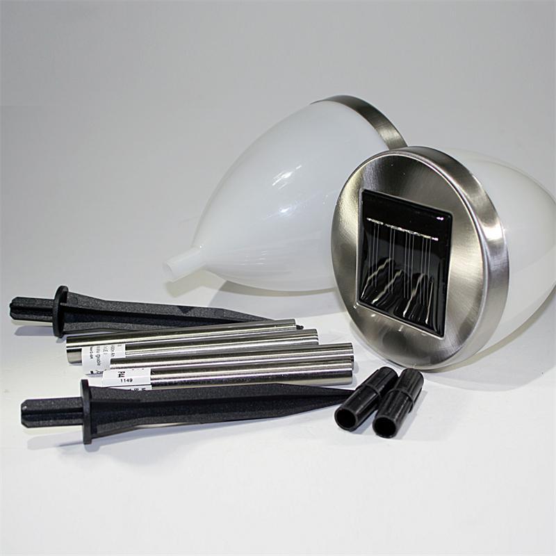 2er set led solar gartenleuchten solarlampen ip44. Black Bedroom Furniture Sets. Home Design Ideas