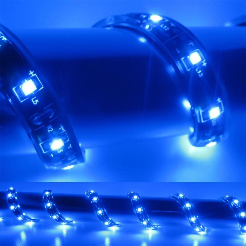 5m Flex SMD Stripe LED IP65 blau 12V / PCB-braun