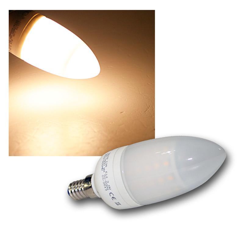 led kerzenlampe warmwei 240lm 3w e14 60leds. Black Bedroom Furniture Sets. Home Design Ideas
