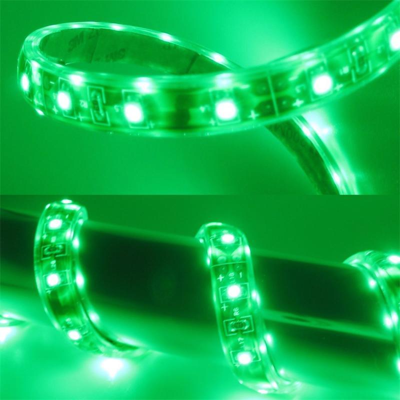 5m Flex SMD Stripe LED IP65 grün 12V / PCB-braun