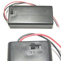 battery holder for 2x Mignon AA batteries, closed