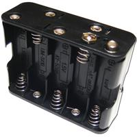 battery holder for 10x Mignon AA batteries