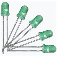 Leuchtdiode mit grünen diffusen Gehäuse, Ø5mm