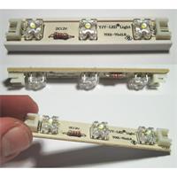 LED Lichterkette mit 7 einzelnen SuperFlux LED 3er-Modulen