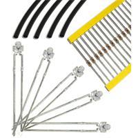 LEDs im 10er Set mit Schrumpfschlauch und Widerstand