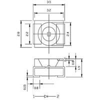 Abmessungen der SMD LED PLCC-2 3528
