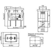 Miniaturschalter mit einer Schaltleistung von 125V/6A oder 250V/3A