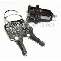 Schlüsselschalter mit Kontermutter und 2 Schlüsseln