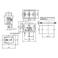 1-poliger Miniaturschalter für maximal 250V/3A