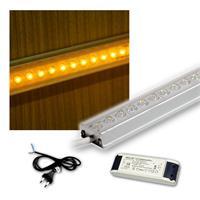 SET 4x50cm LED Alu-Leiste mit Zubehör GELB