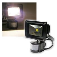 10W LED Fluter mit Bewegungsmelder 850lm,  BLACK