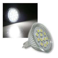 LED-Strahler MR16, 12x 5050 SMD LEDs kaltweiß