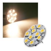 LED-Lampe G4 10x5050 SMD LEDs horizontal, warmweiß