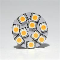 LED G4 12V rund mit 10 starken 5050 SMD LEDs der Ersatz für 20W Halogenlampen