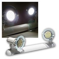 Top P Leuchte weiß, 2-flg E14, kalt-weiß 60 LEDs