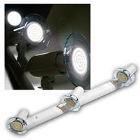 Top P Leuchte weiß, 3-flg E14, kalt-weiß 60 LEDs