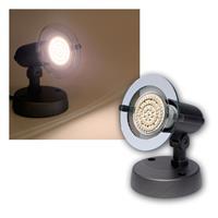 Top P Spot grau, 1-flg E14, warmweiß, 60 LEDs