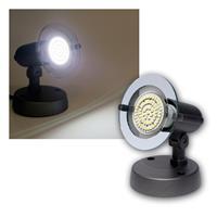 Top P Spot grau, 1-flg E14, kalt-weiß, 60 LEDs