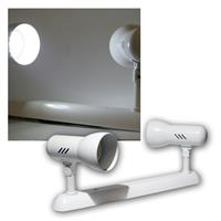 Tramp P spotlight with 2 lights, white frame